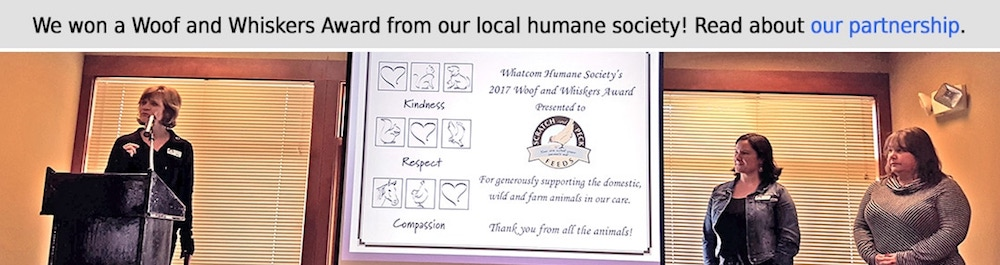 Scratch and Peck Feeds with Whatcom Humane Society