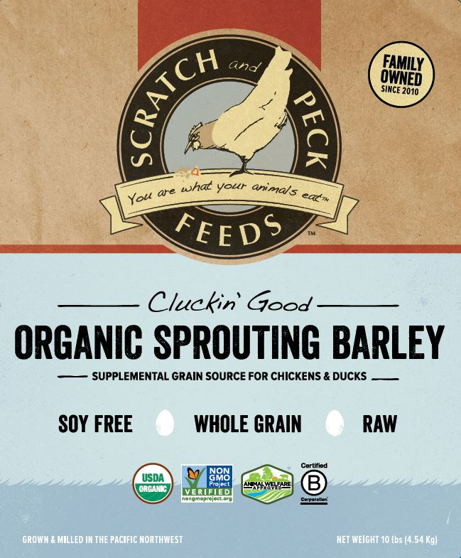 Cluckin' Good Organic Sprouting Barley