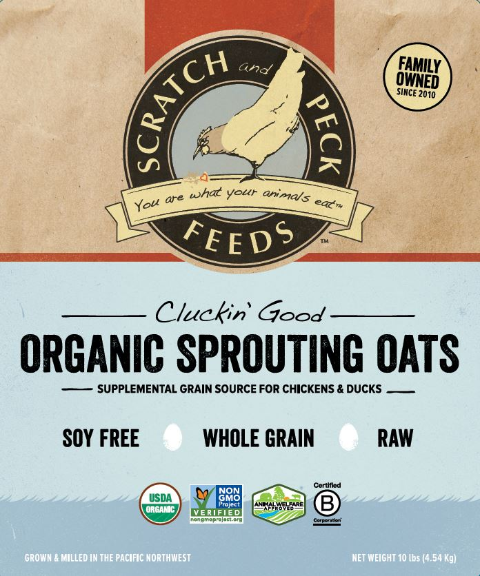 Cluckin' Good Organic Sprouting Oats