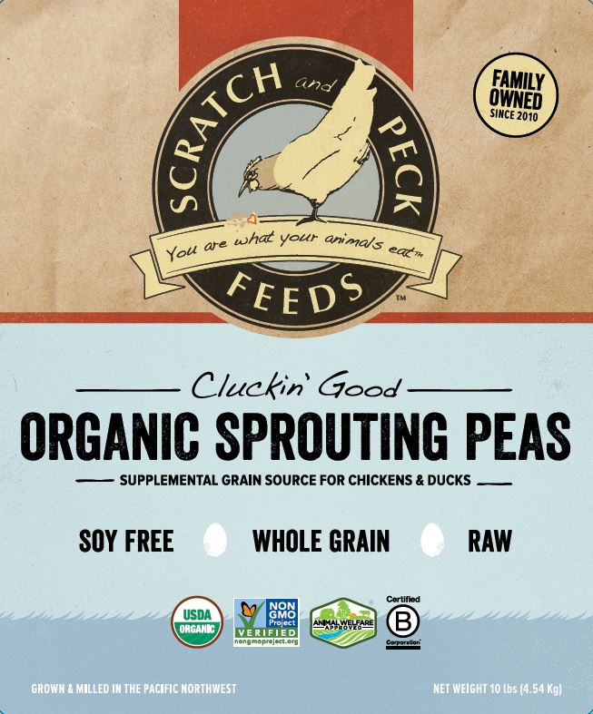 Cluckin' Good Organic Sprouting Peas
