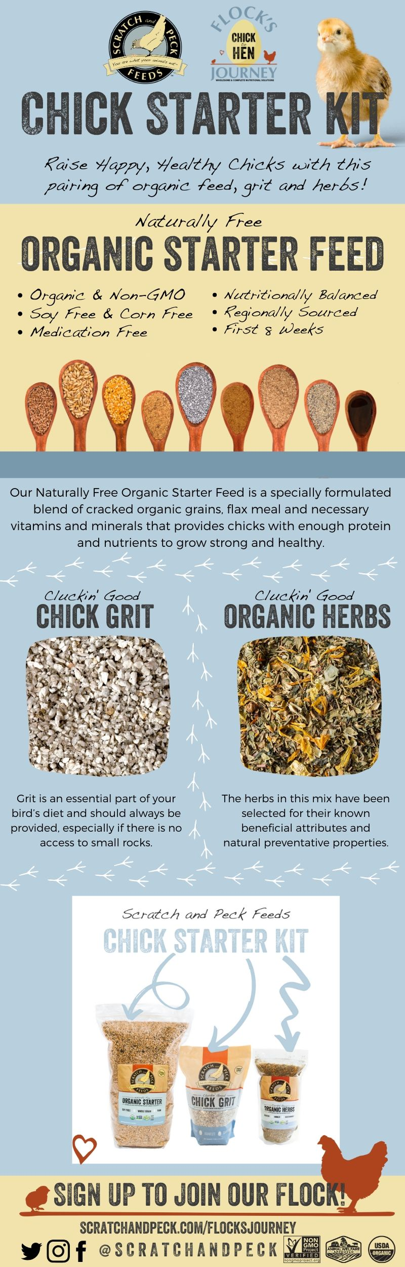 Scratch and Peck Feeds Chick Starter Kit Infographic