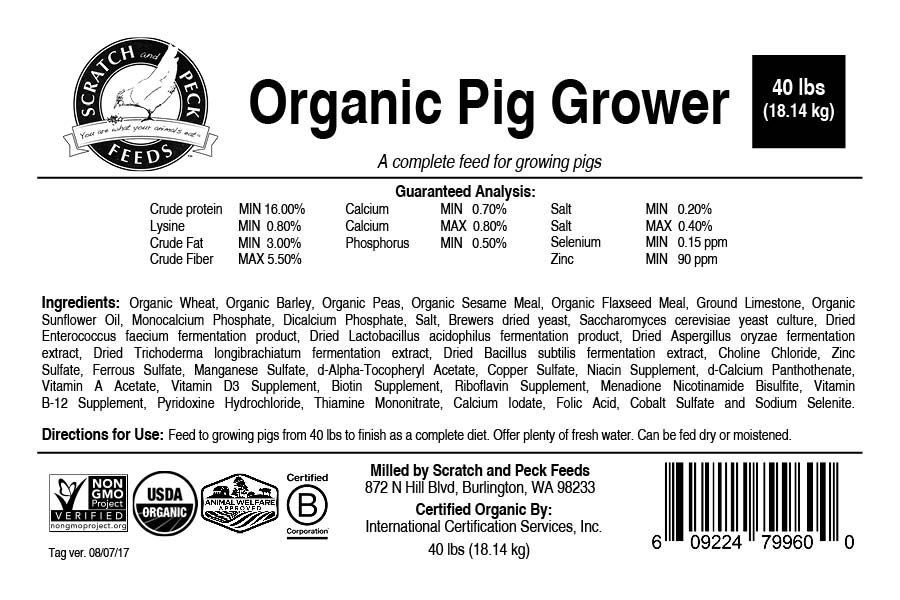 Scratch and Peck Feeds Organic Pig Grower