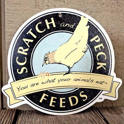 Scratch and Peck Feeds sign