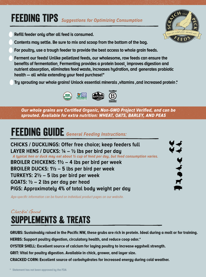 Scratch and Peck Feeds Feeding Guide
